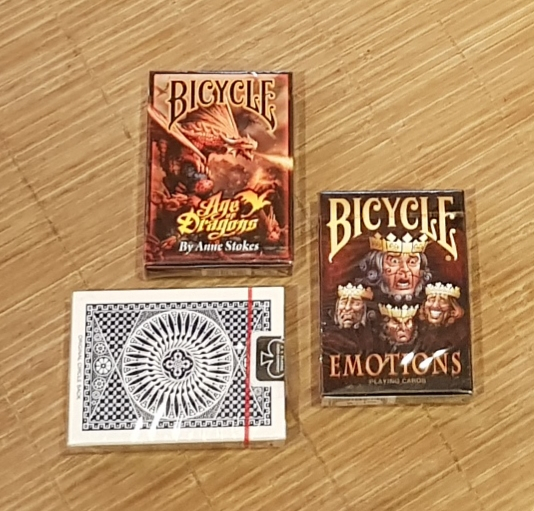 Lot de 3 BICYCLE COLLECTION et TALLYHO